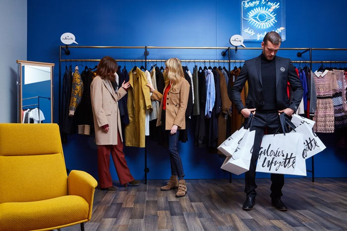 Galeries Lafayette Paris Haussmann presents Hands-Free Shopping