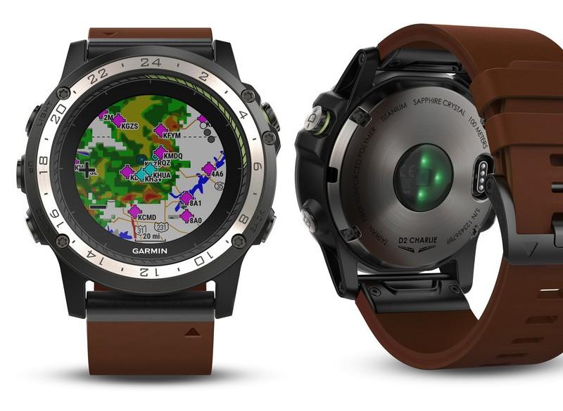 Garmin D2 Charlie aviator watch-details display