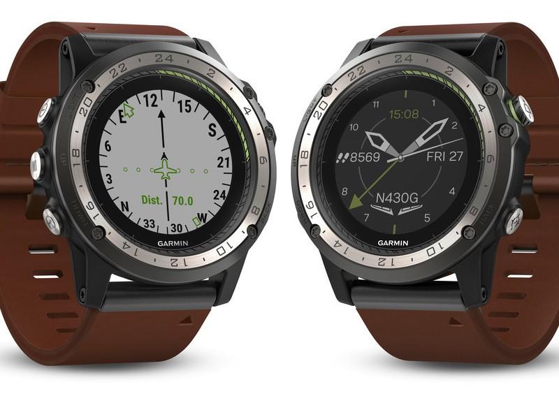 Garmin D2 Charlie aviator watch-display