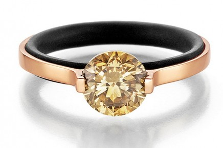 Luxury is full of lightness: Gellner Brave Star solitaire ring relies on an innovative setting