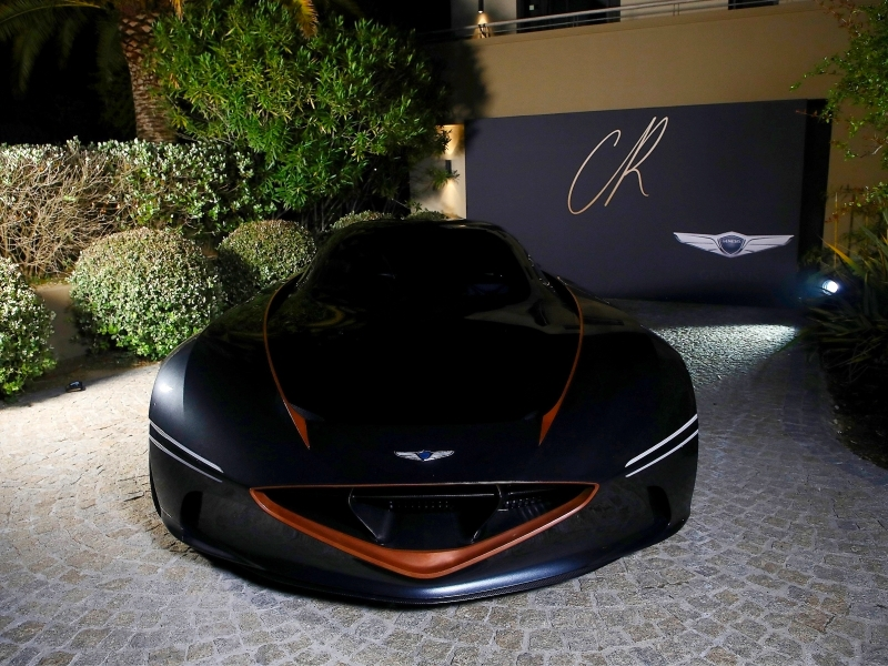 Genesis introduced its all-electric, high-performance Essentia Concept at the CR Fashion Book Cannes Party 2018