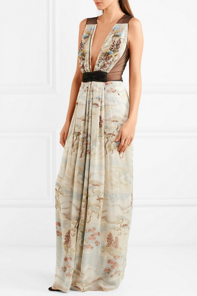 Giorgio Armani's womenswear collection for NET-A-PORTER-2017-tulle and silk-organza gown