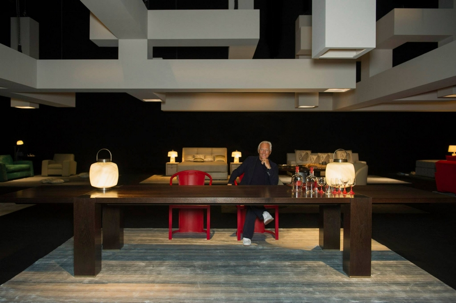 Giorgio Armani at the Interior Design Studio's 'The Art of Living'  exhibition on display at the Armani-Teatro for Salone del Mobile 2015-