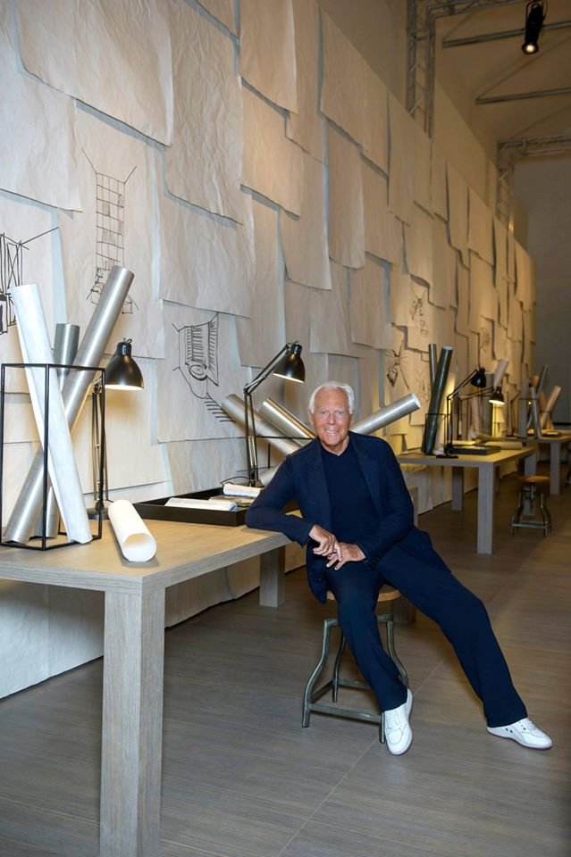 Giorgio Armani at the Interior Design Studio's 'The Art of Living'  exhibition on display at the Armani-Teatro for Salone del Mobile 2015 -  2LUXURY2.COM