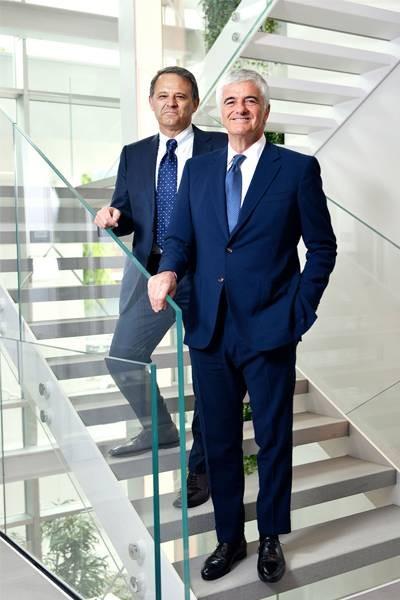 Giovanni Zoppas, CEO of Thélios and Antonio Belloni, Group Managing Director of LVMH - Thélios
