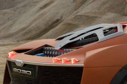 3 concept cars from Fabrizio and Giorgetto Giugiaro: Vision 2030, Vision 2030 Desert Raid, Bandini Dora