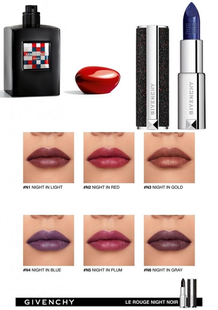 Givenchy Le Rouge Night Noir Lipstick - Armani Prive Laque Eau de Parfum Fashion Edition