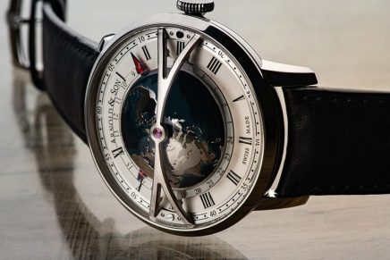 Globetrotter Night features one of the largest rotating 3D world-time display on a wristwatch