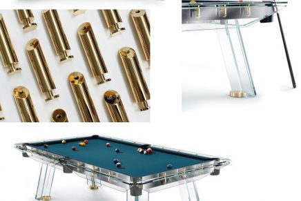 This  one of a kind 24k gold plated pool table is a good piece of investment