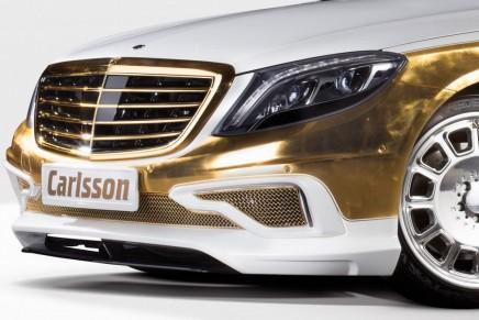 2014 Geneva Motor Show: Gold-plated Carlsson CS50 Versailles