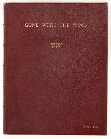Gone with the Wind, screen play, binding