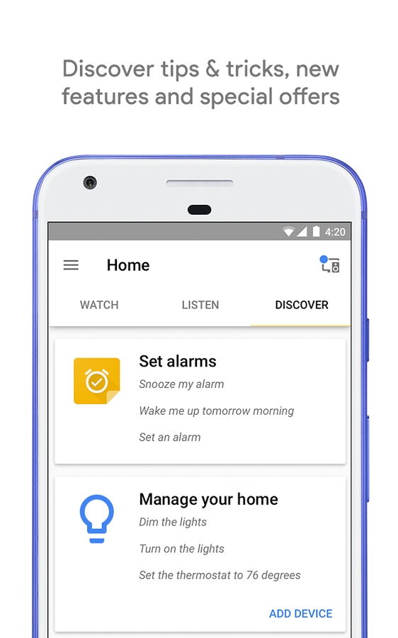 Google Home apps _ Set Alarms