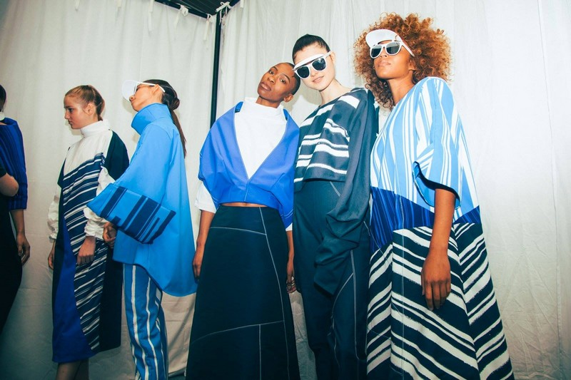 Graduate Fashion Week - Perfecting the final looks backstage at Norwich University of the Arts' #GFW17 show