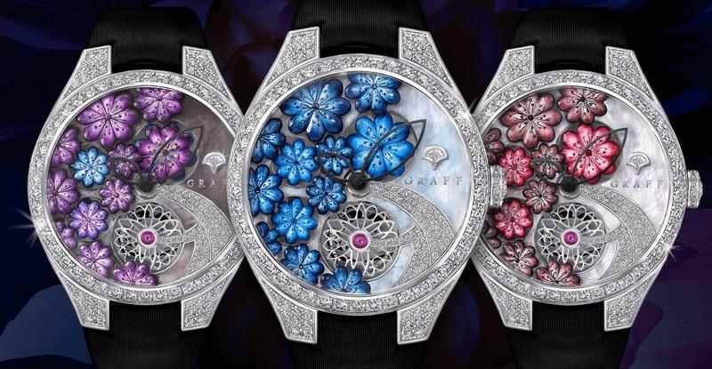 Graff Floral timepieces