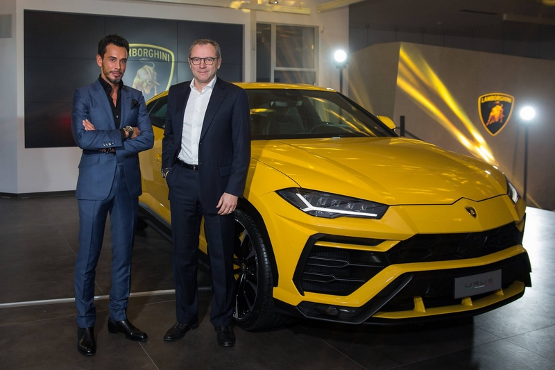Grand opening of the new Lamborghini showroom in the heart of Paris