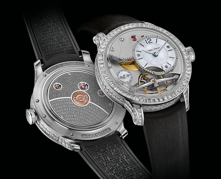 Greubel Forsey is proud to present the Diamond Set Balancier Contemporain, a radiant and elegant 41.6mm edition