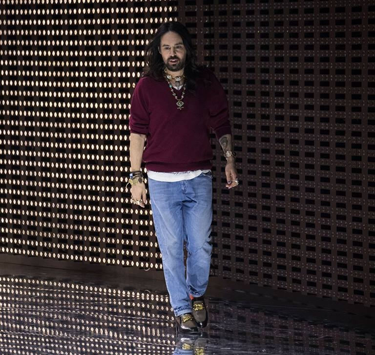 Gucci Creative Director Alessandro Michele at the Fall Winter 2019 women's and men's fashion show during Milan Fashion Week