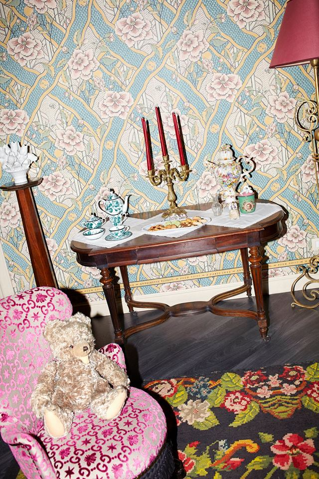 Gucci Décor by Alessandro Michele - the boutique showcases furniture, decorative pieces and whimsical wallpapers