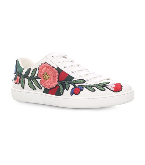 Gucci New Ace Flower Sneakers