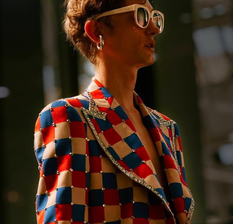 Gucci channels Elton John for its Milan fashion week show