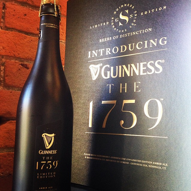 Guinness The 1759 luxury limited edition beer - 2014 version
