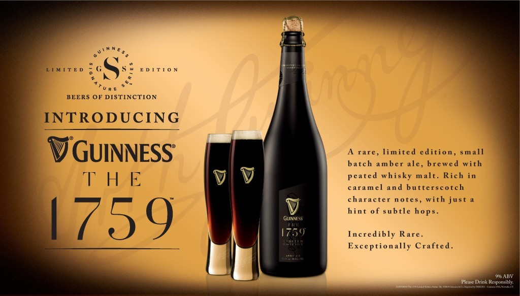 Guinness The 1759 ultra-premium beer - the luxury beer served in stemless champagne flutes to