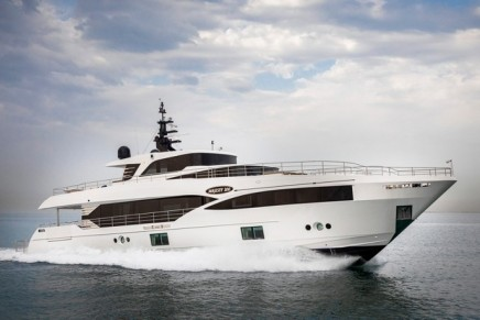 Majesty 110 & 100 sky-lounge superyachts on display at the Cannes & Monaco Yacht Shows