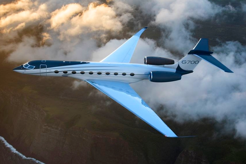 Gulfstream Aerospace unveiled the G700 as its newest flags-