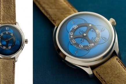 Something new, blue and pretty wild: H. Moser & Cie Endeavour Flying Hours watch