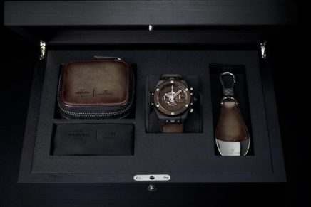 Berluti's iconic Venezia patina on Hublot Big Bang Unico Berluti Cold Brown