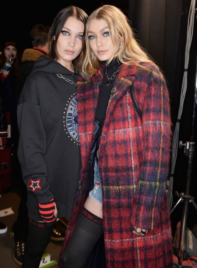 Hadid family Tommy Hilfiger fashion show during London Fashion Week SpringSummer 2018