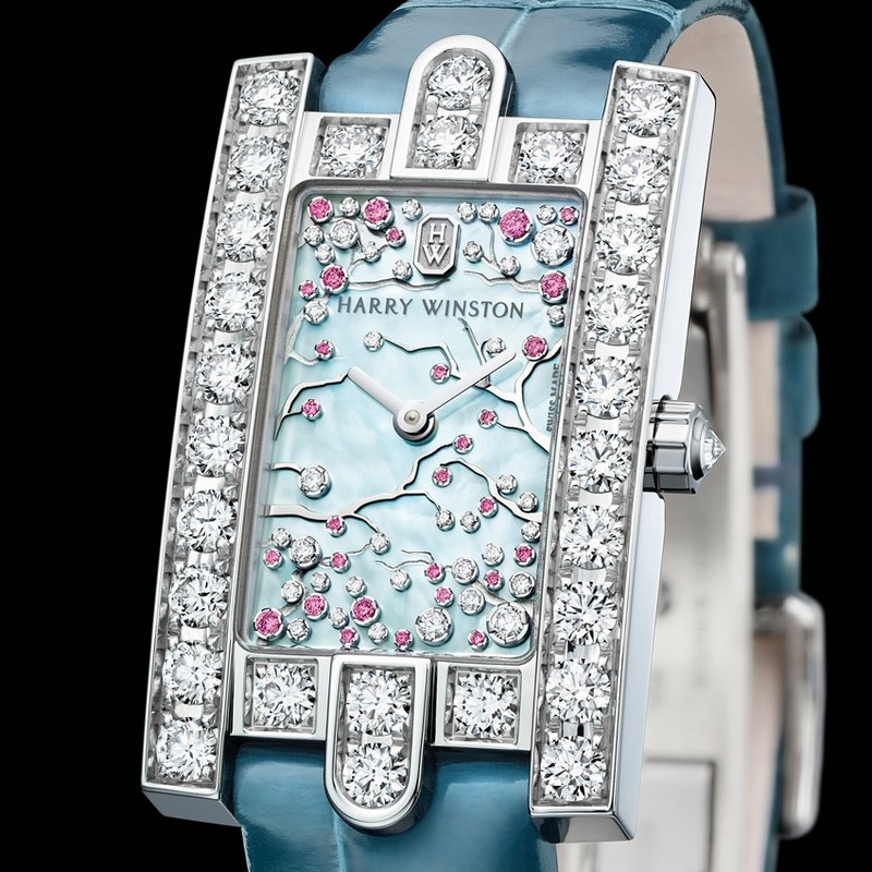 Harry Winston Avenue Classic Cherry Blossom timepiece for Baselworld 2017