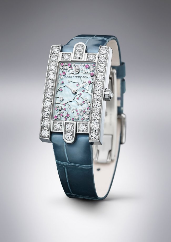 Harry Winston Avenue Classic Cherry Blossom watch for Baselworld 2017
