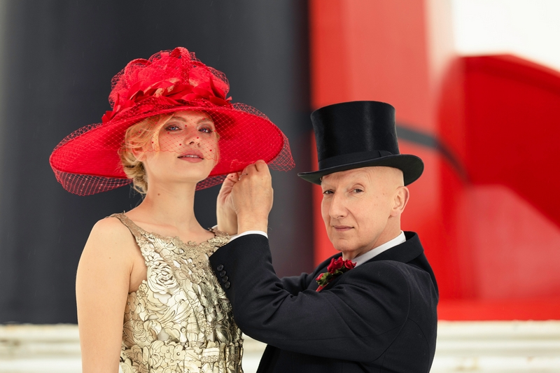 Hat-maker to the stars, Stephen Jones OBE presents the Cunard inspired hat