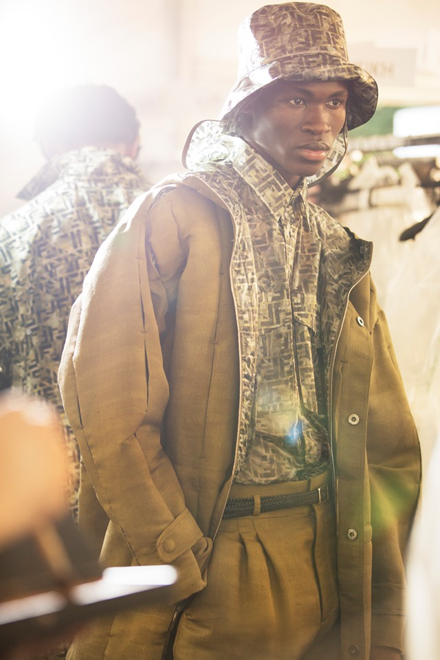Hats - The FendiSS20 Collection is an earthy, muted palette of greens, beiges and browns combined with natural materials