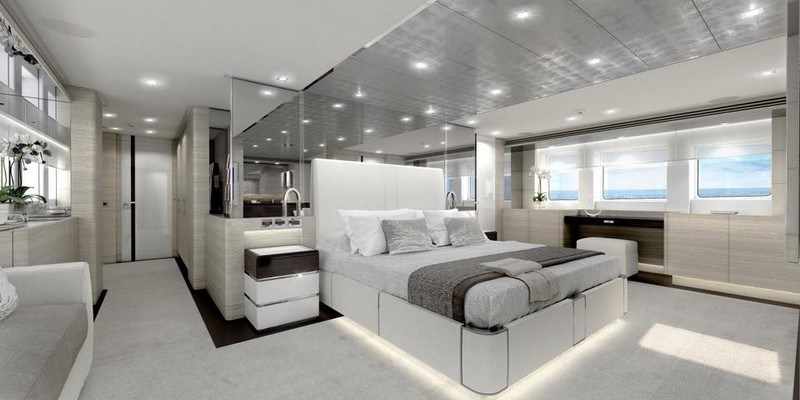 Heesen Yachts Project Aster in construction - interiors