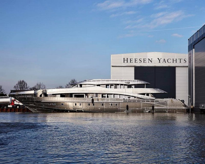 Heesen Yachts Project Aster in construction
