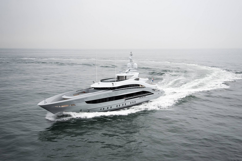 Heesen Yachts YN 18350, christened #omaha, has been delivered to her owners f