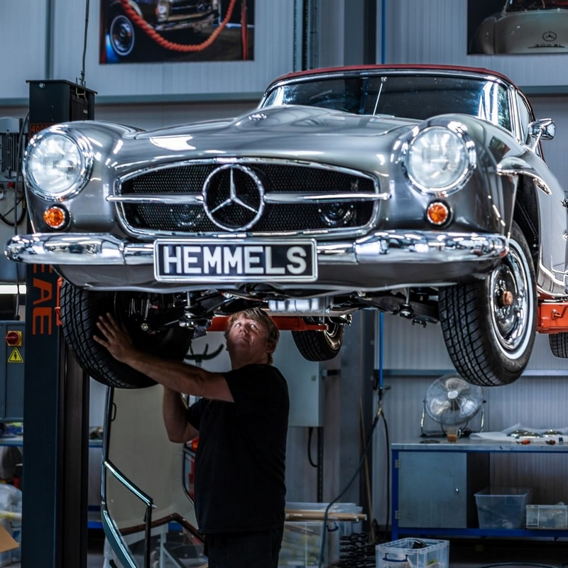 Hemmels Mercedes-Benz restoration projects