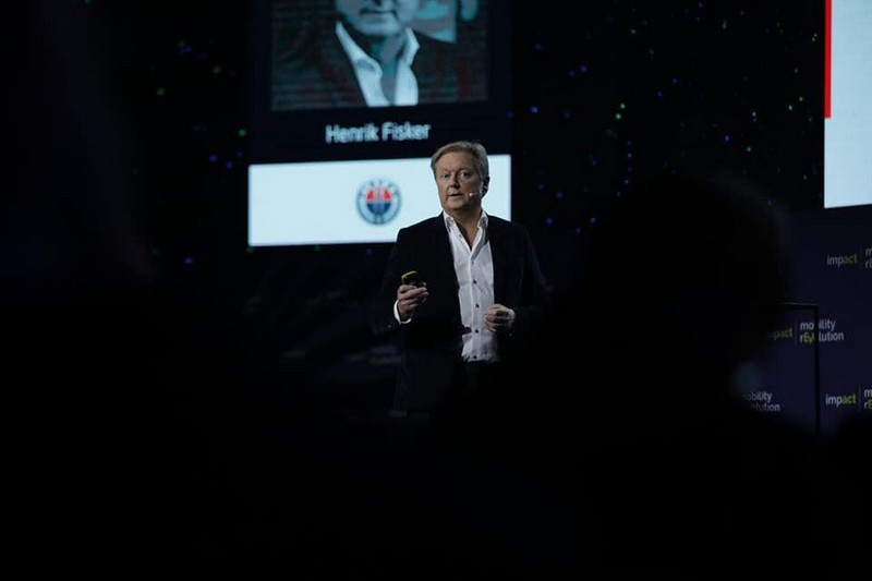 Henrik Fisker speaking at Impact Mobility Revolution 19 All about affordable E-Mobility