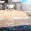 HereideDesign - 108M mega yacht concept - beach simulation