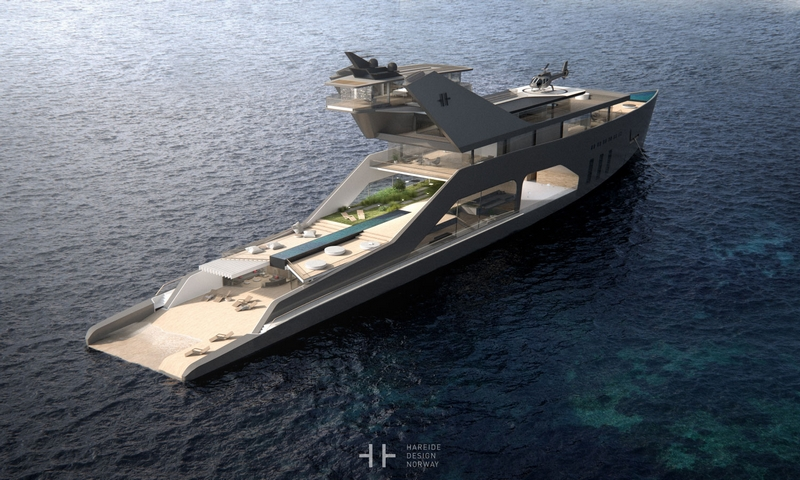 HereideDesign - 108M mega yacht concept - photos-