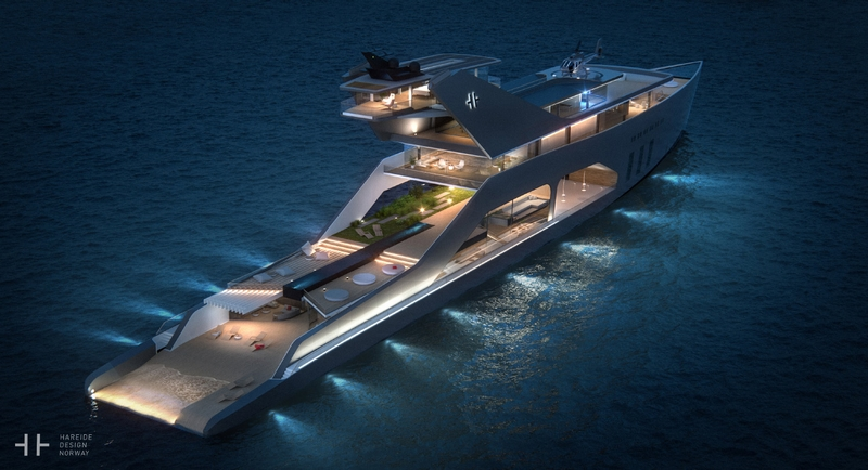 HereideDesign - 108M mega yacht concept - photos
