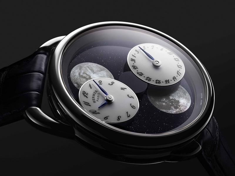 Hermès Arceau L'Heure de la Lune watch: A unique vision of Earth's satellite; photo: Hermès