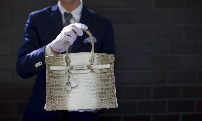 Hermès Birkin handbag with diamonds and crocodile leather