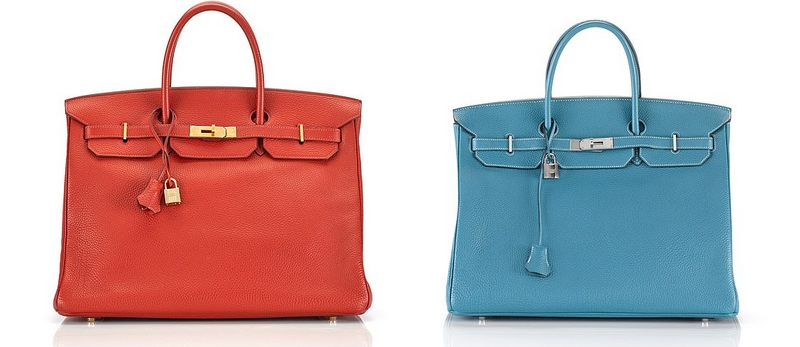 Hermes Birkin handbags two of the 25 designs auctioned by Sotheby's on 10 April