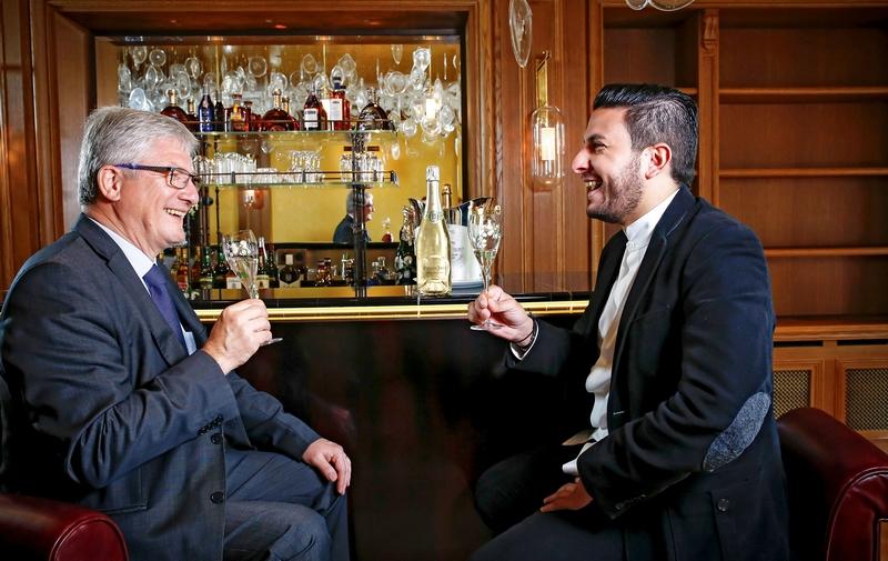 Hervé Deschamps and Chef Akrame -