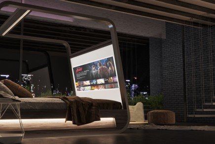 This smart bed brings together entertainment, home automation, HD projector and sleep monitoring