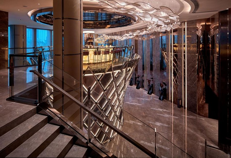 Hirsch Bedner Associates (HBA) completes Ultima Residences Hong Kong- lobby staircase