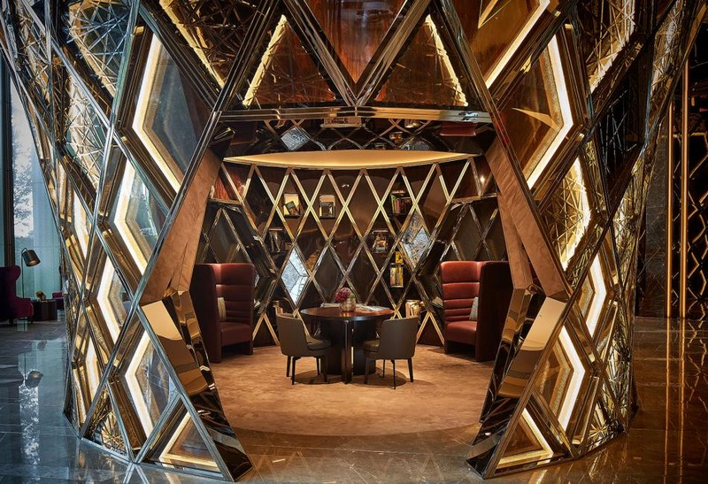 Hirsch Bedner Associates (HBA) completes Ultima Residences - private dining room-